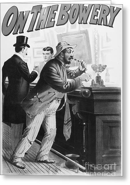Hobo Greeting Cards - On The Bowery, 1894 Greeting Card by Granger
