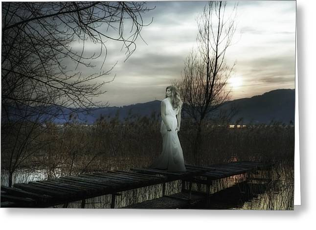 Dream Like Greeting Cards - On The Bridge Greeting Card by Joana Kruse