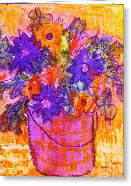 Les Mixed Media Greeting Cards - On the Bucket List Greeting Card by Anne-Elizabeth Whiteway