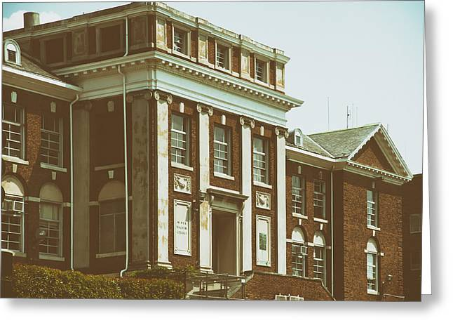 Analog Greeting Cards - On the Campus of Howard University - Washington DC Greeting Card by Mountain Dreams