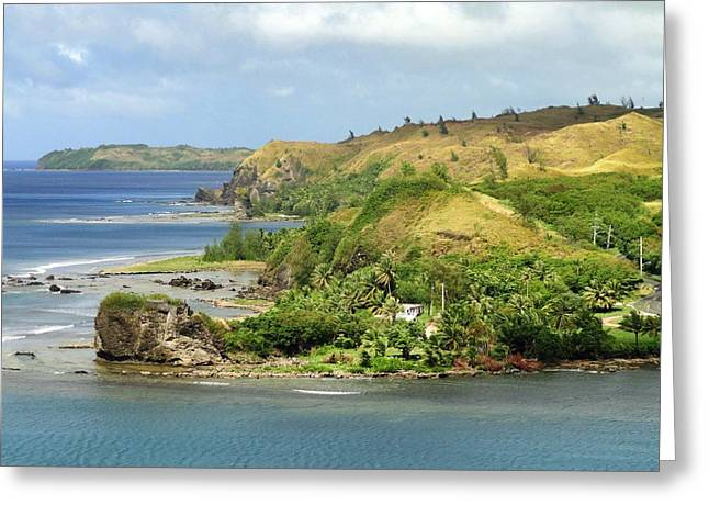 Guam Greeting Cards - On the Coast of Guam Greeting Card by Mountain Dreams