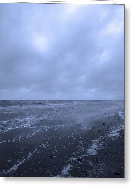 Storm On The Beach Greeting Cards - On The Coast Of The Gulf Of Mexico From Holly Beach Greeting Card by Dan Sproul