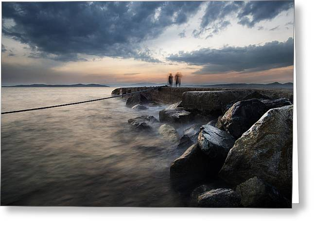 Coil Greeting Cards - On the dock of the bay Greeting Card by Ivan Vukelic