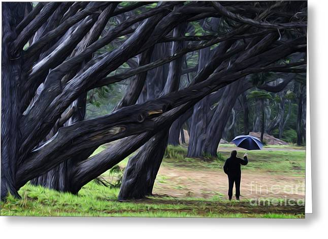 Canadian Photographer Greeting Cards - Rainy Day People 1 Greeting Card by Bob Christopher