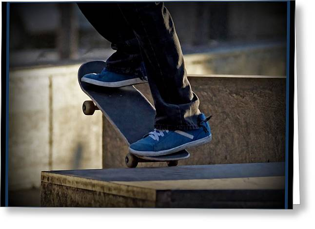 Skateboarding Greeting Cards - On the Edge Greeting Card by Ernie Echols