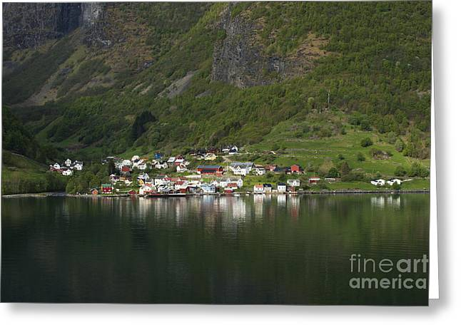 On The Edge Greeting Cards - On the Edge of the Fjord Greeting Card by Anne Gilbert