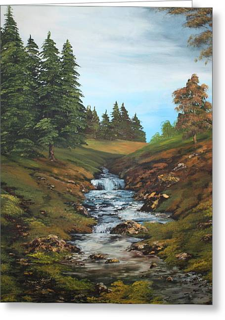 Jean Walker Greeting Cards - On the edge of the Forest Greeting Card by Jean Walker