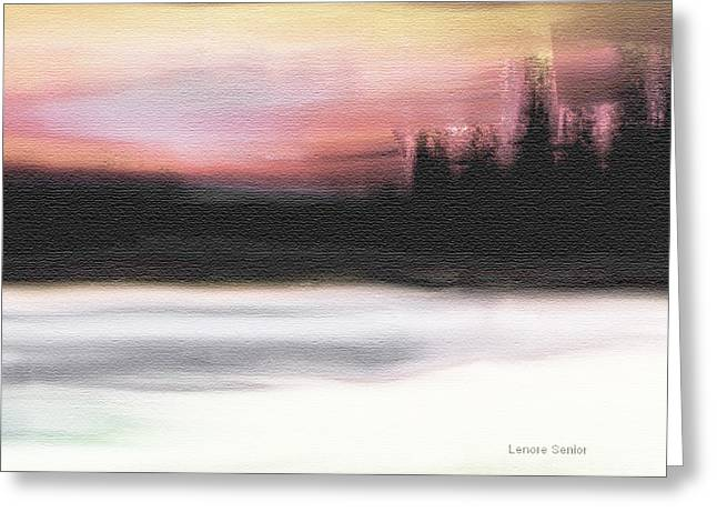Sand Patterns Mixed Media Greeting Cards - On the Edge of the Lake Greeting Card by Lenore Senior