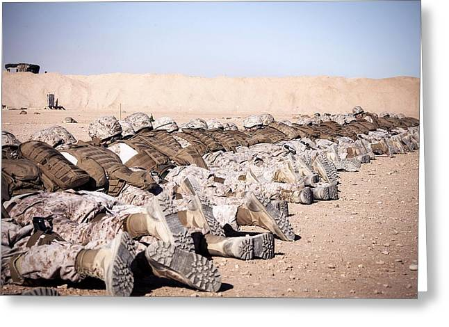 Helmand Province Greeting Cards - On the Firing Range Greeting Card by Mountain Dreams