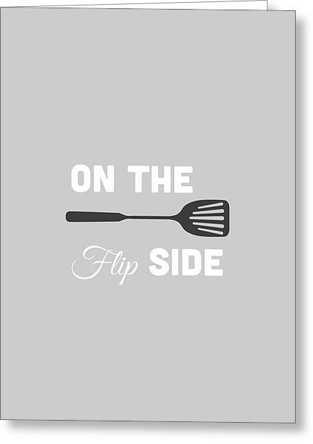 Food Digital Greeting Cards - On The Flip Side Greeting Card by Nancy Ingersoll