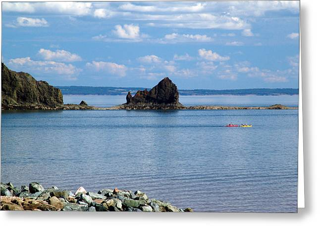 Minas Basin Greeting Cards - On The Glooscap Trail Greeting Card by Janet Ashworth