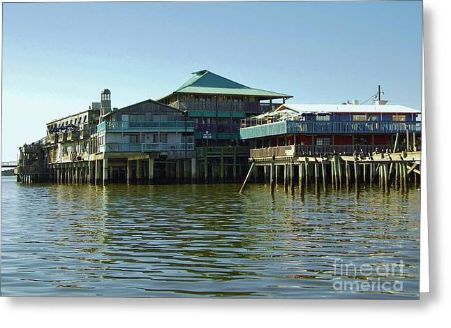 Cedar Key Greeting Cards - On The Gulf Greeting Card by D Hackett