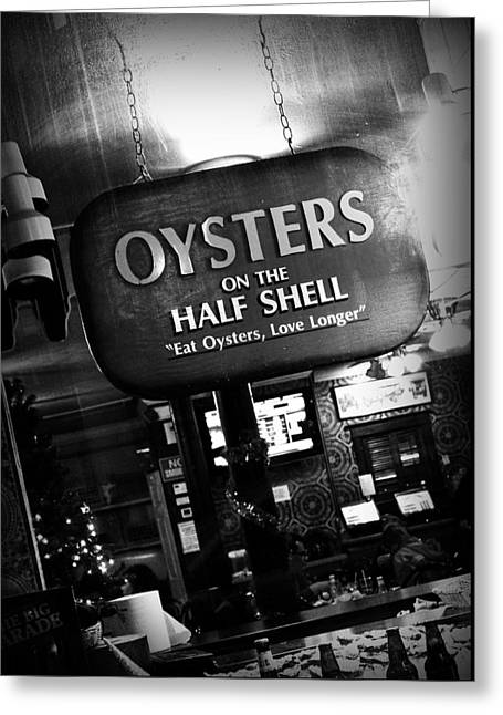 On The Half Shell Greeting Card by Scott Pellegrin