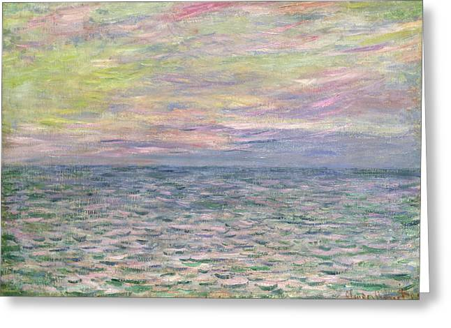 On the High Seas Greeting Card by Claude Monet
