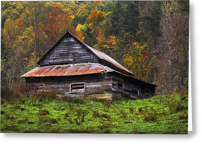 Tennessee Farm Greeting Cards - On the Hill Greeting Card by Debra and Dave Vanderlaan