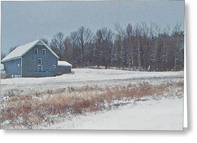 Recently Sold -  - Maine Farmhouse Greeting Cards - On The Hill Greeting Card by Joy Nichols