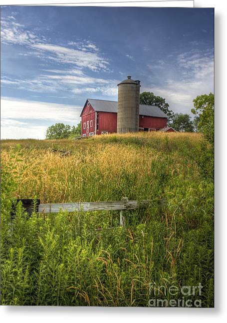 Open Land Greeting Cards - On The Hilltop Greeting Card by Margie Hurwich
