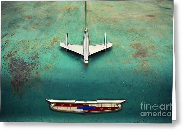 Rusted Cars Greeting Cards - On the Hood  Greeting Card by Tim Gainey