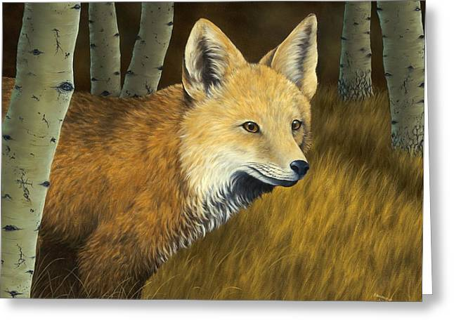 Fall Grass Paintings Greeting Cards - On the Hunt Greeting Card by Rick Bainbridge