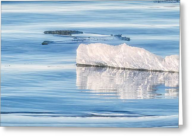 Coastal Maine Greeting Cards - On The Icy Sea Greeting Card by Jeff Sinon