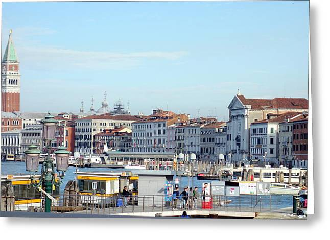 Italian Islands Greeting Cards - On the Lagoon Greeting Card by Valentino Visentini