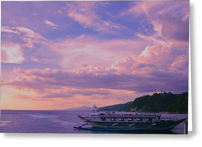 Docked Boat Greeting Cards - On the Lake Greeting Card by Lisa Pearlman