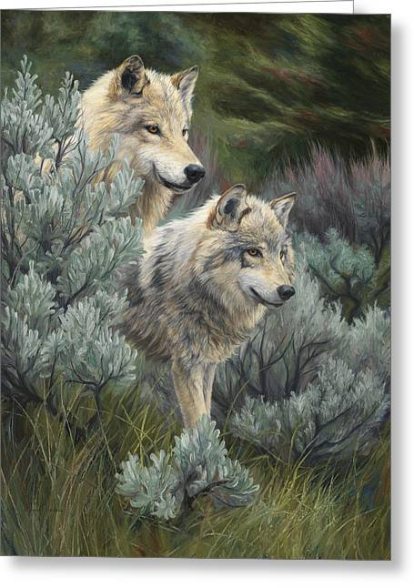 On The Lookout Greeting Cards - On The Lookout Greeting Card by Lucie Bilodeau