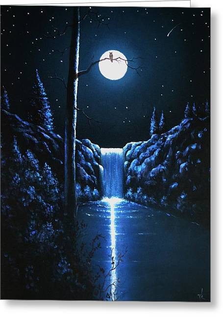 Glow Murals Greeting Cards - On the Lookout Greeting Card by Thomas Kolendra