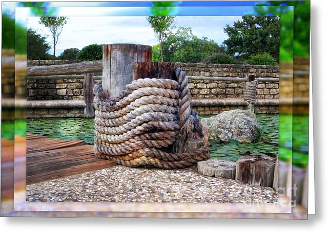 On The Marina - Rainbow Of Color - Photographic Art Greeting Card by Ella Kaye Dickey