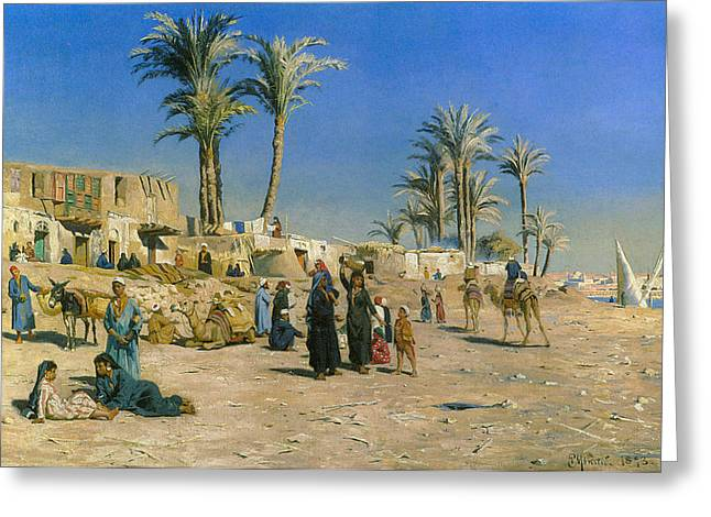 Monsted Greeting Cards - On The Outskirts Of Cairo Greeting Card by Peder Mork Monsted