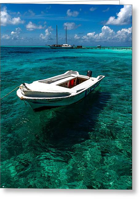 Maldivian Greeting Cards - On the Peaceful Waters. Maldives Greeting Card by Jenny Rainbow