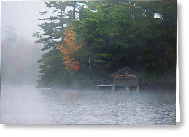 Recently Sold -  - Boats On Water Greeting Cards - On The Pond Greeting Card by Joy Nichols