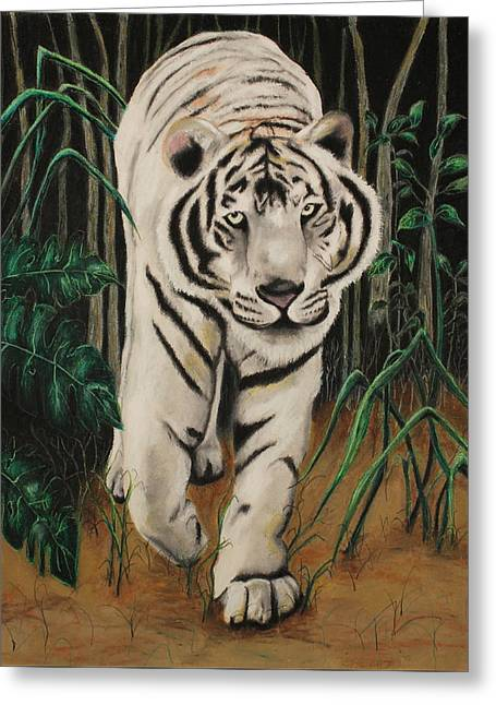 Danger Pastels Greeting Cards - On The Prowl Greeting Card by Jeanne Fischer