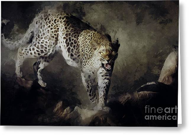 On The Prowl Greeting Card by Shanina Conway