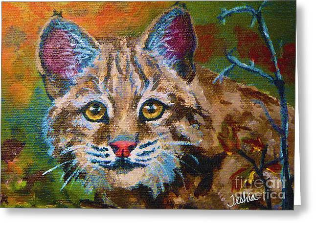 Teshia Art Greeting Cards - On the Prowl Greeting Card by Teshia Art