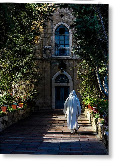 On The Right Path Greeting Card by Mark Perelmuter