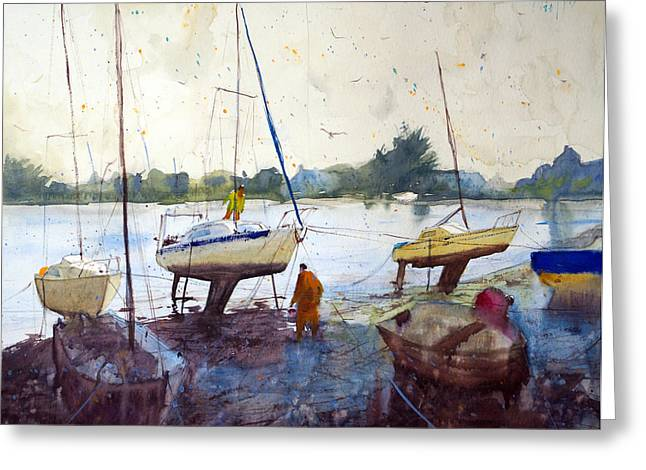 Lorient Greeting Cards - On the riverbank Greeting Card by Andre MEHU