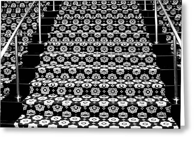 On The Riviera Stairs Palm Springs Greeting Card by William Dey