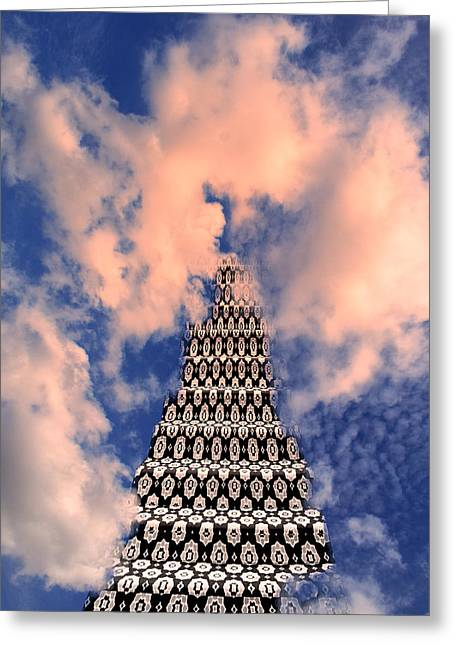 Surreal Geometric Greeting Cards - ON THE RIVIERA STAIRWAY TO HEAVEN Palm Springs Greeting Card by William Dey