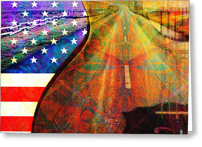 Punk Rock Music Greeting Cards - On The Road Again 20140716 Square Greeting Card by Wingsdomain Art and Photography