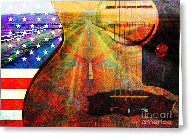 Punk Rock Music Greeting Cards - On The Road Again 20140716 Greeting Card by Wingsdomain Art and Photography