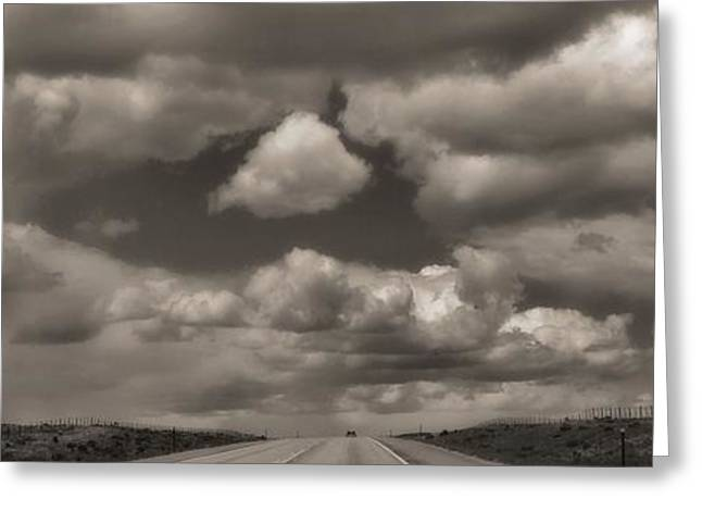 Summer Storm Greeting Cards - On The Road Again Greeting Card by Dan Sproul