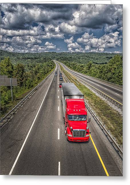 Eighteen Speed Greeting Cards - On The Road Again E61 Greeting Card by Wendell Franks
