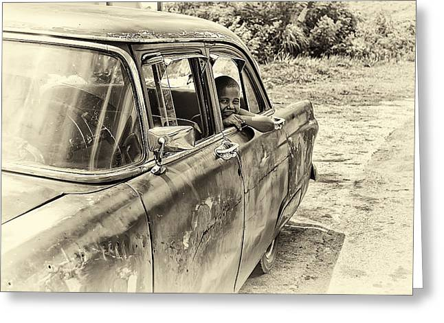 Ford Customline Greeting Cards - On the Road Greeting Card by Phil Callan Photography