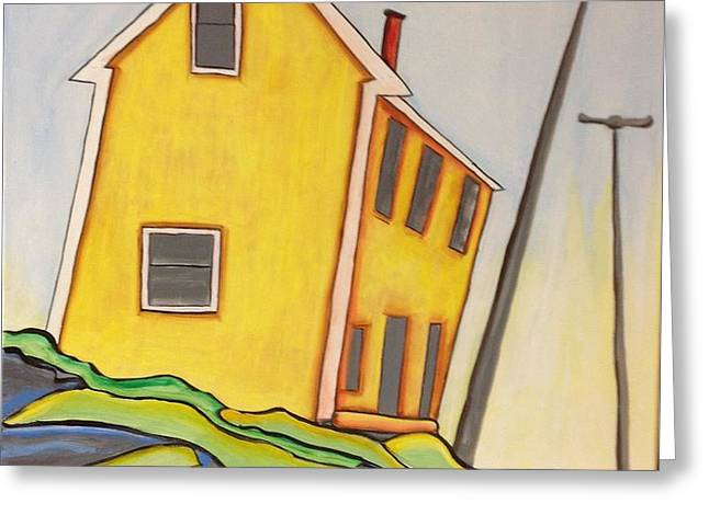 Colorful House  Greeting Card by Heather Lovat-Fraser