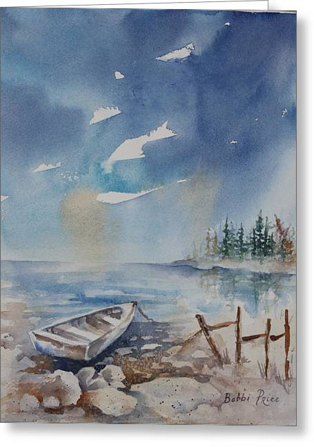 Warecolor Greeting Cards - On The Rocks Greeting Card by Bobbi Price