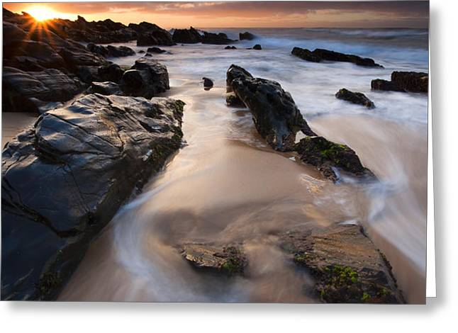 On the Rocks Greeting Card by Mike  Dawson