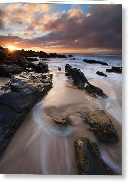 Peninsula Greeting Cards - On the Rocks Greeting Card by Mike  Dawson