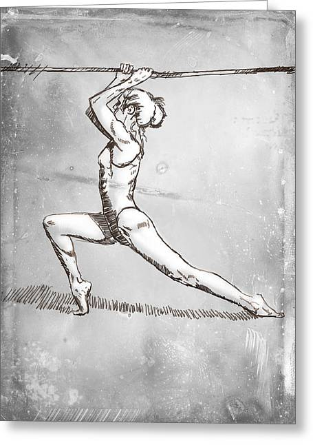 On The Rope Greeting Card by H James Hoff
