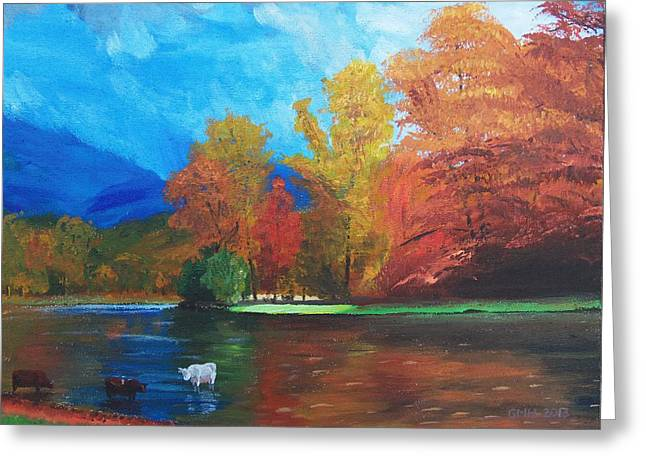 Saco River Greeting Cards - On the Saco Greeting Card by Glenn Harden